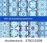 set of mexican stylized... | Shutterstock .eps vector #378215308