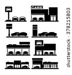 car dealership store building... | Shutterstock .eps vector #378215803