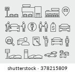 car dealership vector icons  | Shutterstock .eps vector #378215809