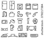 home appliances icon set   Shutterstock .eps vector #378217384