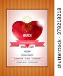 happy women's day party flyer.... | Shutterstock .eps vector #378218218
