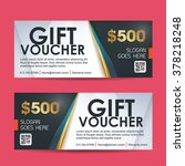 gift voucher template with... | Shutterstock .eps vector #378218248