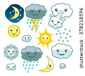 cute weather collection | Shutterstock .eps vector #378218596