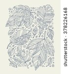 forest leaves art background ... | Shutterstock .eps vector #378226168