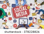 social media connection global... | Shutterstock . vector #378228826