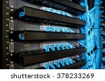 network switch and ethernet... | Shutterstock . vector #378233269