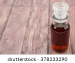 maple vinegar in glass vial... | Shutterstock . vector #378233290