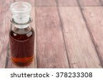 maple vinegar in glass vial... | Shutterstock . vector #378233308