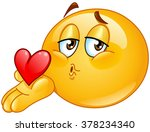 male emoticon blowing a kiss | Shutterstock .eps vector #378234340