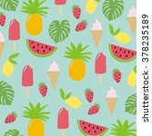 summer fruit pattern | Shutterstock .eps vector #378235189