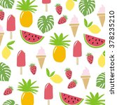 summer fruit pattern | Shutterstock .eps vector #378235210