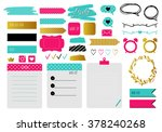 sticker  icons  signs  for... | Shutterstock .eps vector #378240268