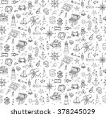 seamless background hand drawn... | Shutterstock .eps vector #378245029