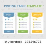 pricing table template with...   Shutterstock .eps vector #378246778