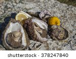 fresh picked oysters and...   Shutterstock . vector #378247840
