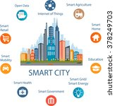 smart city concept with... | Shutterstock .eps vector #378249703
