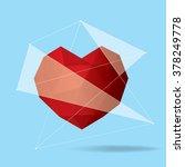 vector modern geometrical heart ... | Shutterstock .eps vector #378249778