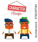 funny cartoon character design | Shutterstock .eps vector #378249784