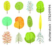 set of decorative trees. trees. ... | Shutterstock .eps vector #378249994