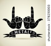 abstract rock hands. metal... | Shutterstock .eps vector #378250003
