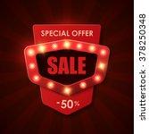 sale background in vintage... | Shutterstock .eps vector #378250348