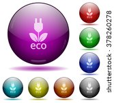 set of color eco energy glass...