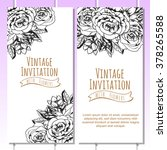 vintage delicate invitation... | Shutterstock . vector #378265588
