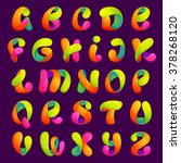 Funny Colorful Alphabet Letter...