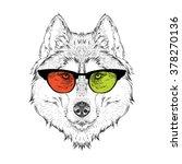 portrait of the husky in the... | Shutterstock .eps vector #378270136