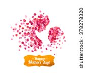 happy mother's day  silhouette... | Shutterstock .eps vector #378278320