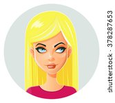 beautiful face.yellow hair... | Shutterstock .eps vector #378287653