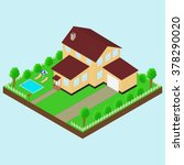 isometric house 3d icon.... | Shutterstock .eps vector #378290020