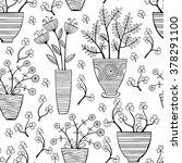 beautiful monochrome flowers in ... | Shutterstock .eps vector #378291100