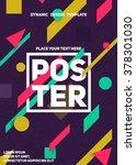 material dynamic design poster. ... | Shutterstock .eps vector #378301030