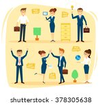 business character design set... | Shutterstock .eps vector #378305638