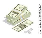 hundreds of dollars. stacked... | Shutterstock .eps vector #378306463
