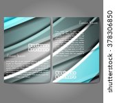 vector brochure template design ... | Shutterstock .eps vector #378306850