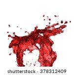 red juice splash closeup... | Shutterstock . vector #378312409