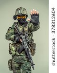 special force soldier   strike...   Shutterstock . vector #378312604