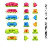 fruity cartoon buttons bright...