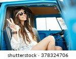 summer holidays  road trip ... | Shutterstock . vector #378324706