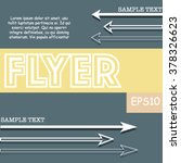 modern flyer with vintage... | Shutterstock .eps vector #378326623