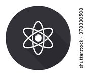atom icon with long shadow  ... | Shutterstock .eps vector #378330508