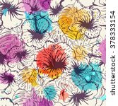 seamless floral background.... | Shutterstock .eps vector #378333154