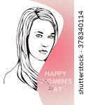 illustration girls with an... | Shutterstock . vector #378340114