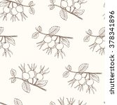 briar seamless pattern.... | Shutterstock .eps vector #378341896