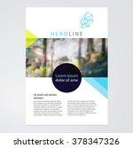 brochure  leaflet  flyer ... | Shutterstock .eps vector #378347326