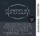 silver  logo design for luxury... | Shutterstock .eps vector #378347704