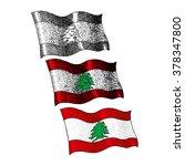 lebanon flag   stock image  ... | Shutterstock .eps vector #378347800
