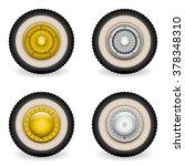 classic wheels vector. 2 models ... | Shutterstock .eps vector #378348310